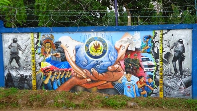 Zamboanga del sur police provincial office for A mural is painted on a