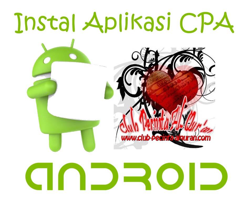 Instal Aplikasi CPA