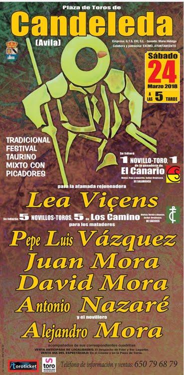 CANDELEDA - AVILA (ESPAÑA) 24-03-2018.FESTIVAL MIXTO CON PICADORES..
