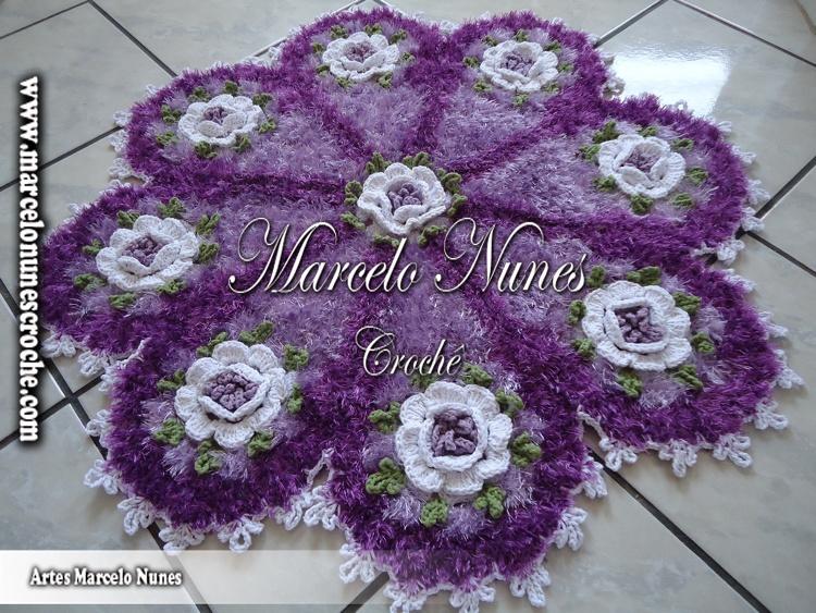 Flores De Croche Em Barbante Barroco Marcelo Nunes Passo A Pelauts