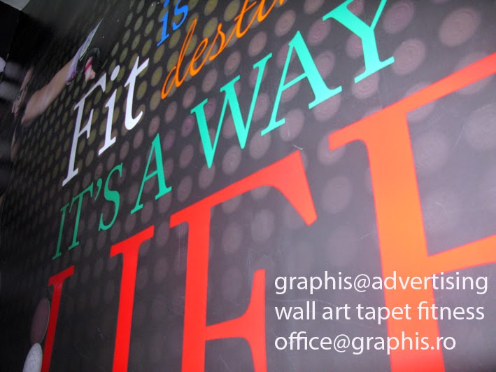 Wall Decor Tapet : Graphis advertising productie publicitara fitness