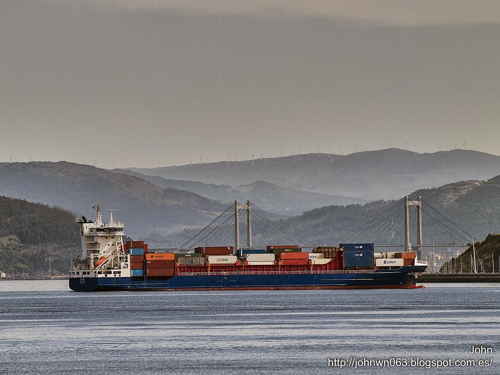 fotos de barcos, imagenes de barcos, elite, portacontenedores, containero, guixar, vigo