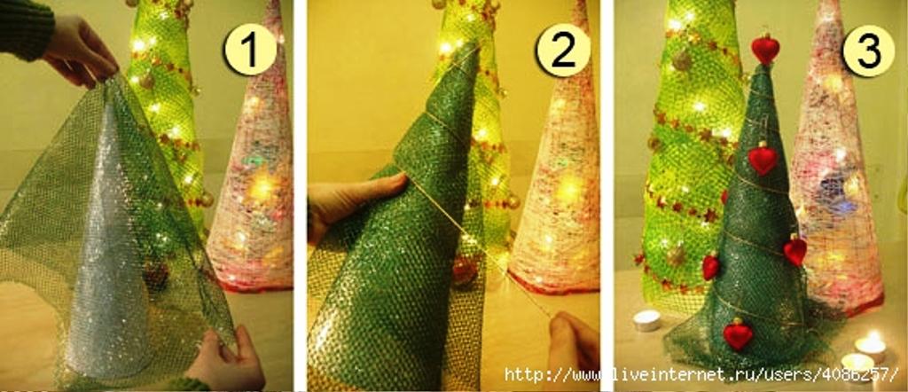 Как сделать новогоднюю ёлку своими руками из