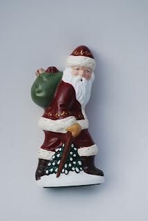 Kathleen McDonald Chalkware Santa