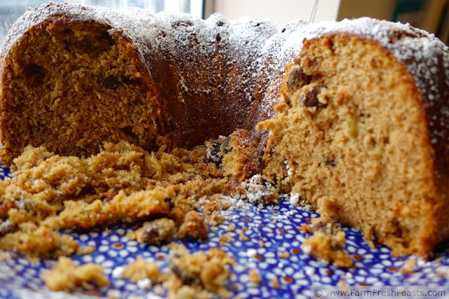 http://www.farmfreshfeasts.com/2013/07/triple-chip-zucchini-spice-cake.html