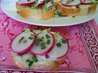 Sage Trifle: Radish Sandwiches with Anchovy Butter