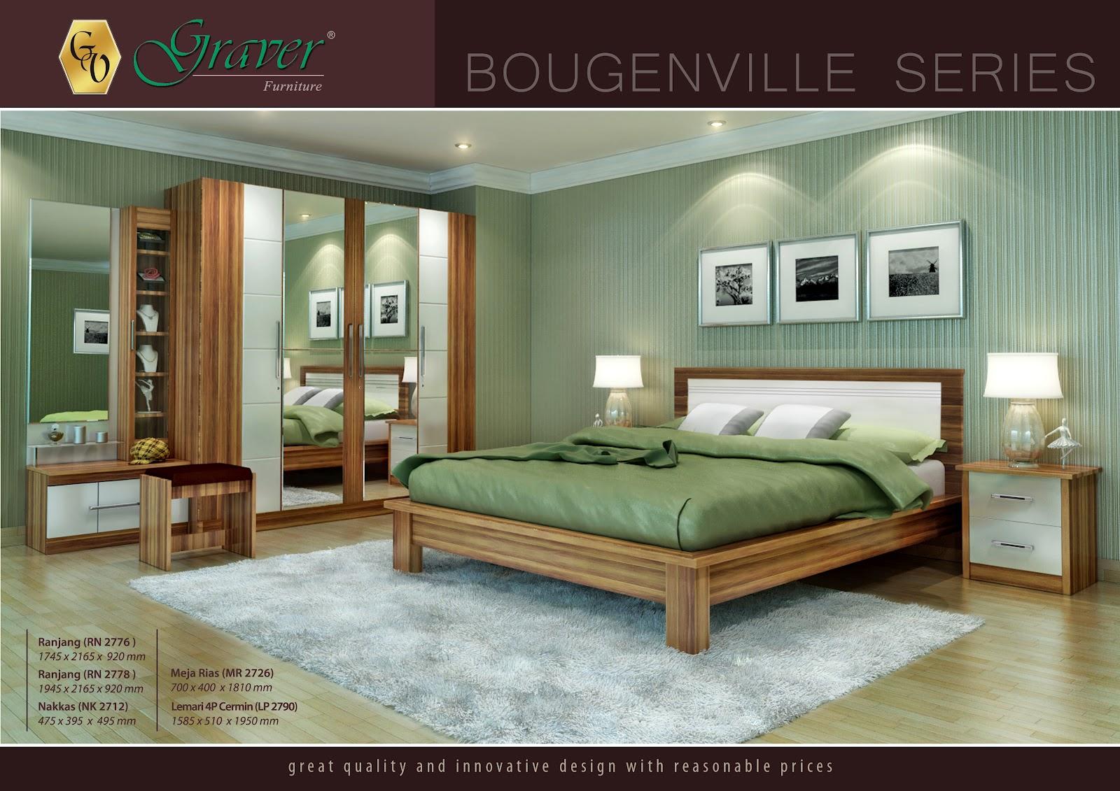 Kehangatan sudut ruangan anda akan kami sajian dengan Bougenville Series