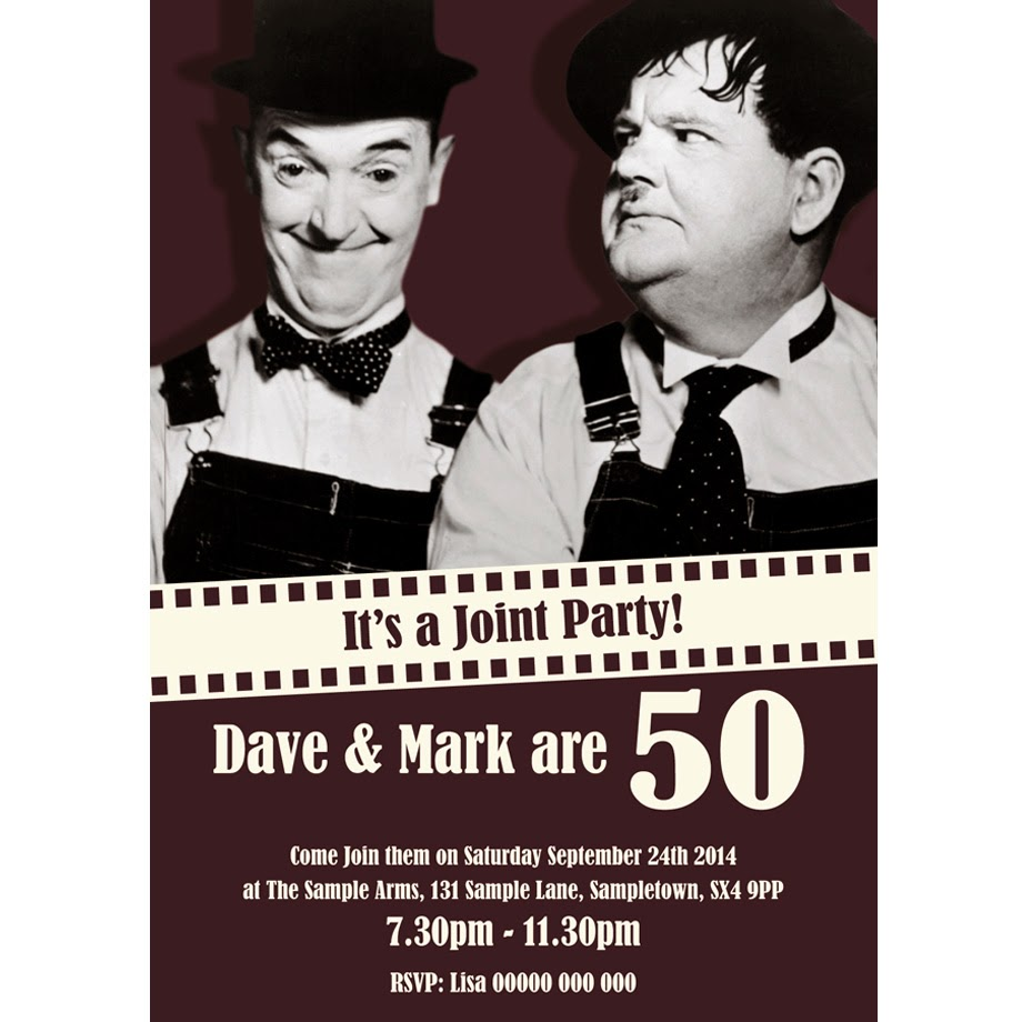 Laurel and Hardy Joint Party Invitation