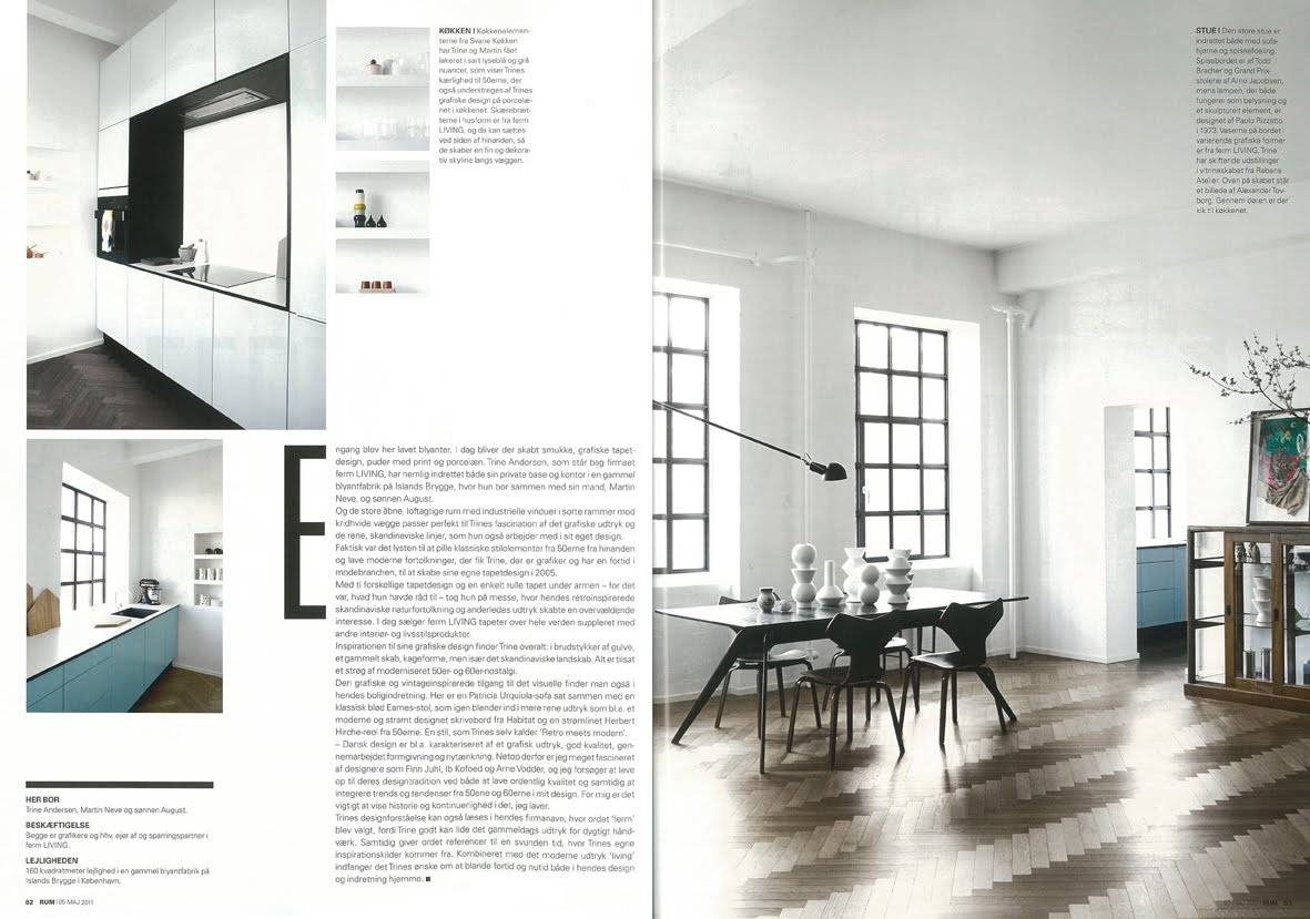 We Are So Proud To Be Featured In The May Issue Of Danish Magazine RUM