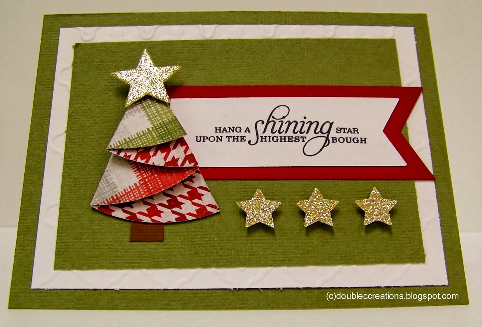 Origami maniacs christmas tree card
