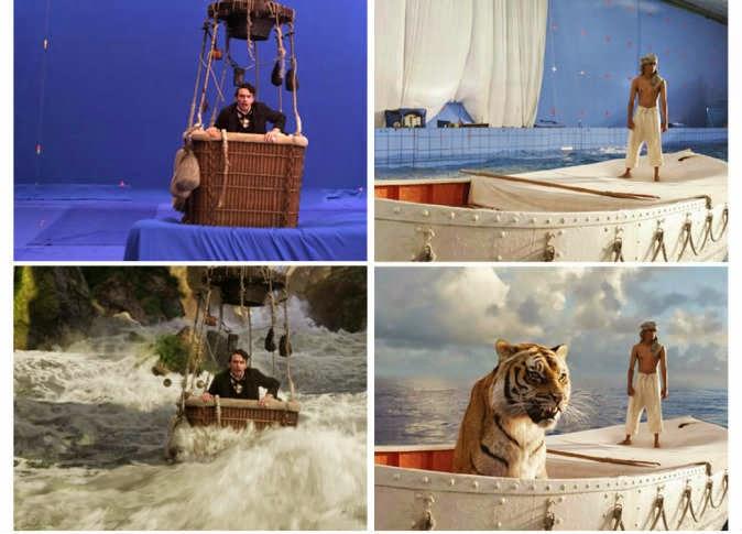 بالصور.. 19 لقطة من أفلام هوليوود قبل وبعد استخدام المؤثرات البصرية