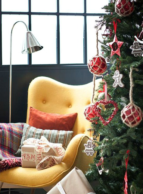 Rope Net Glass Float Tree Ornaments
