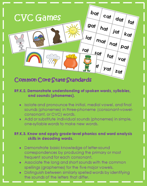 http://www.teacherspayteachers.com/Product/CVC-Spring-Game-Nonsense-Words-Included-Easter-StPatricks-Day-475212