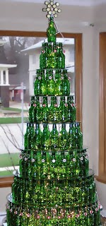 DIY Christmas Tree Bottle Can