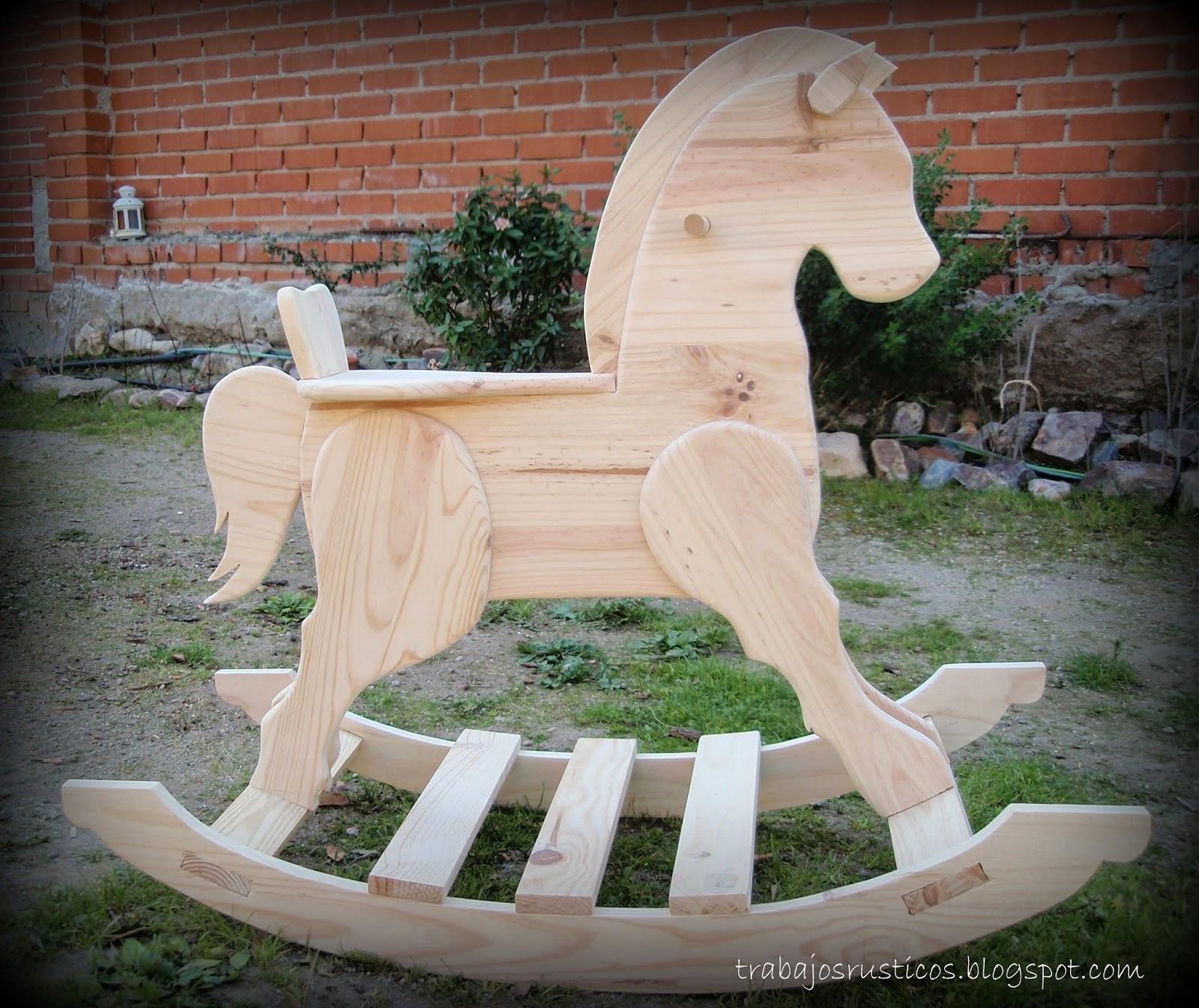 Trabajos r sticos caballo balanc n - Caballito de madera ikea ...