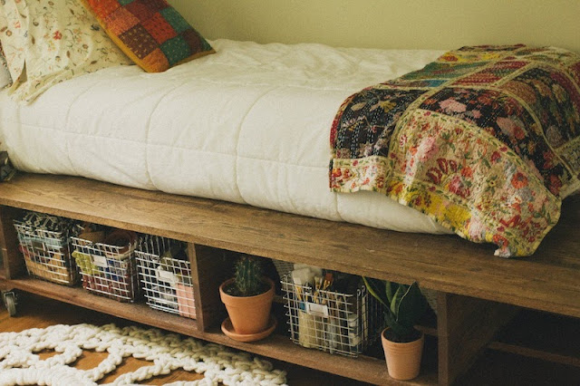 DIY storage bed from AlwaysRooney.com