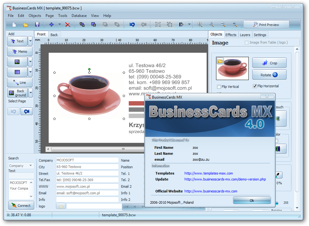 Software businesscards mx is an advanced business card mandegarfo software businesscards mx is an advanced business card reheart Image collections