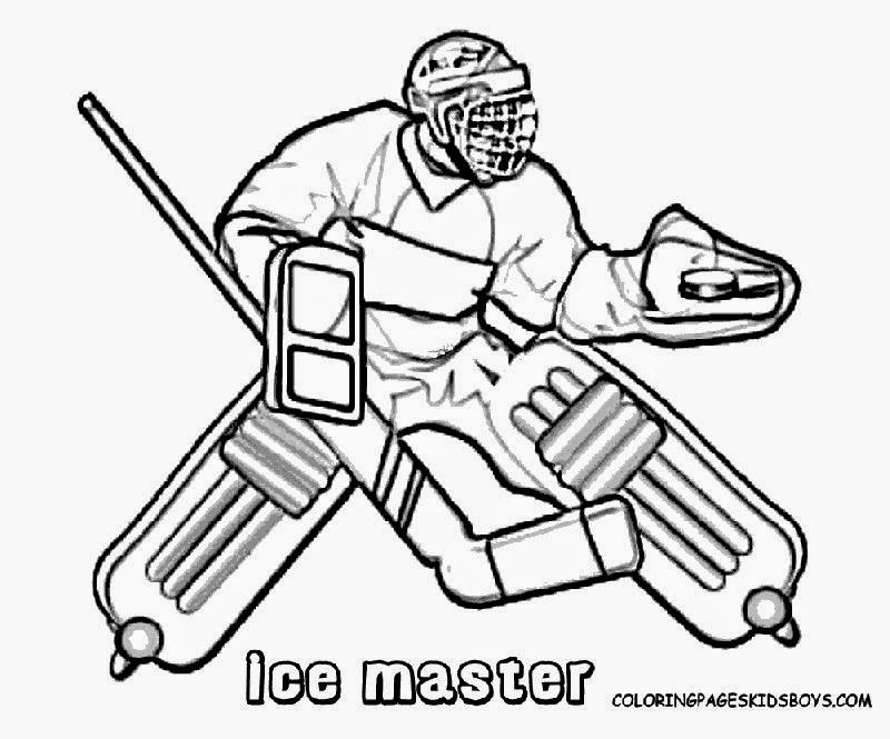 hockey pictures to color free coloring pictures