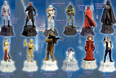 Star Wars  Xadrez miniaturas em chumbo