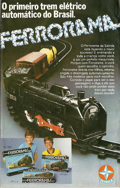 Propaganda do Ferrorrama (Brinquedos Estrela) em 1979.