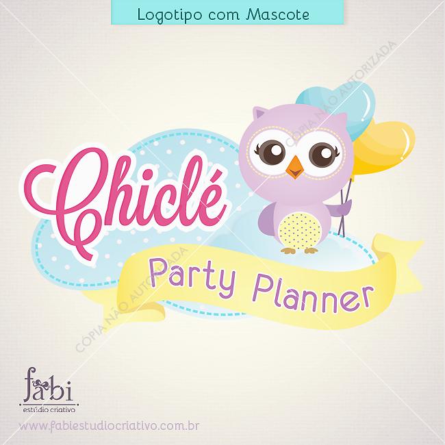 logo decoração de festas infantis, logo scrap festa, logo personalizados, mascote com coruja, logo com coruja