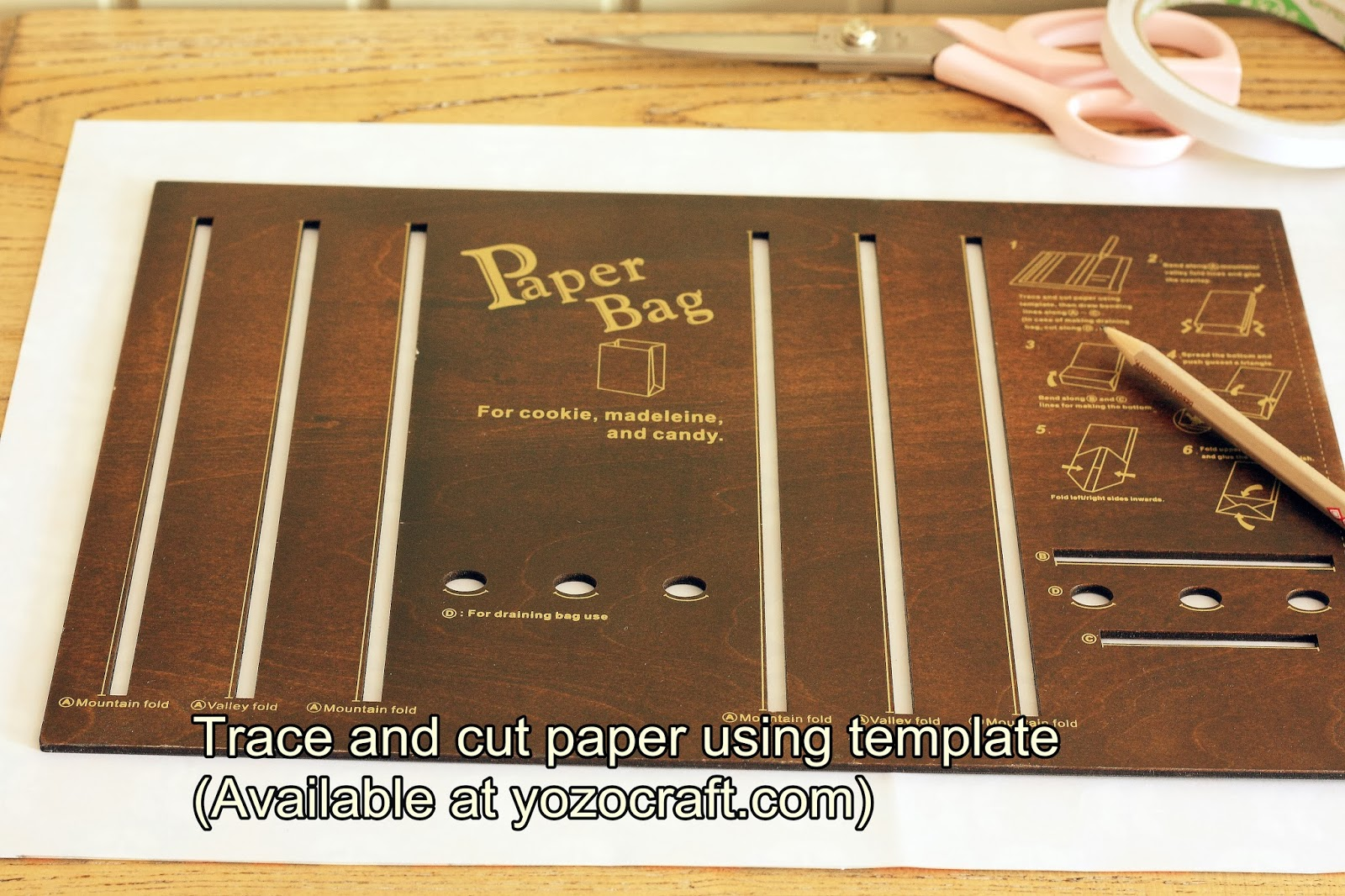 Yozo Craft How To Make Gift Bag By Using Template