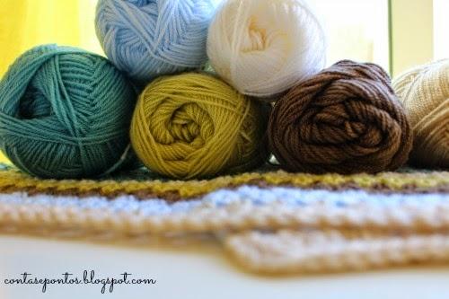 Granny stripes - baby blanket