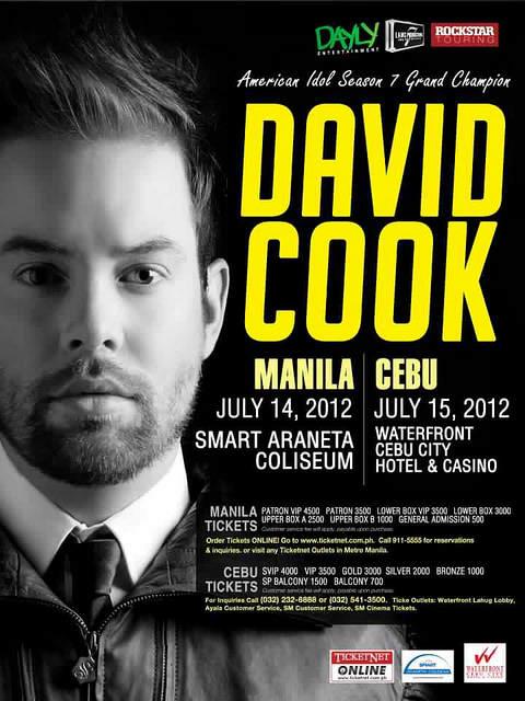 David Cook Concert Manila July 2012