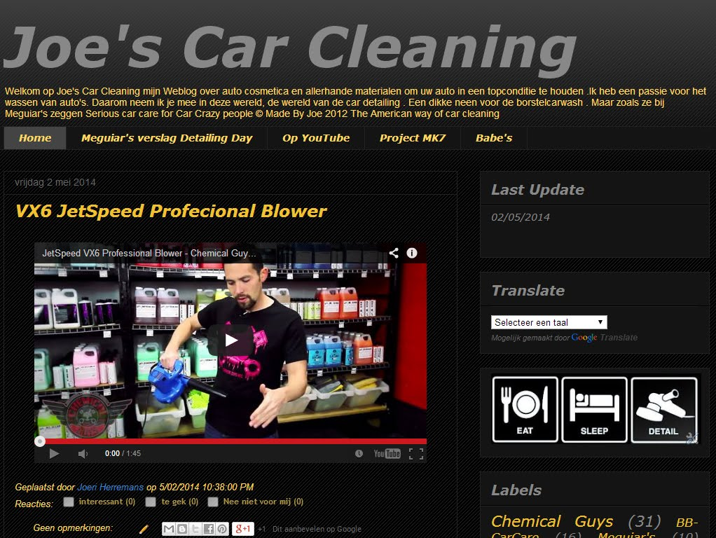 Joe's Car Cleaning
