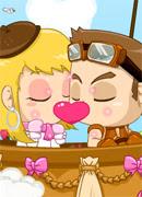 Поцелуи в небе - Онлайн игра для девочек