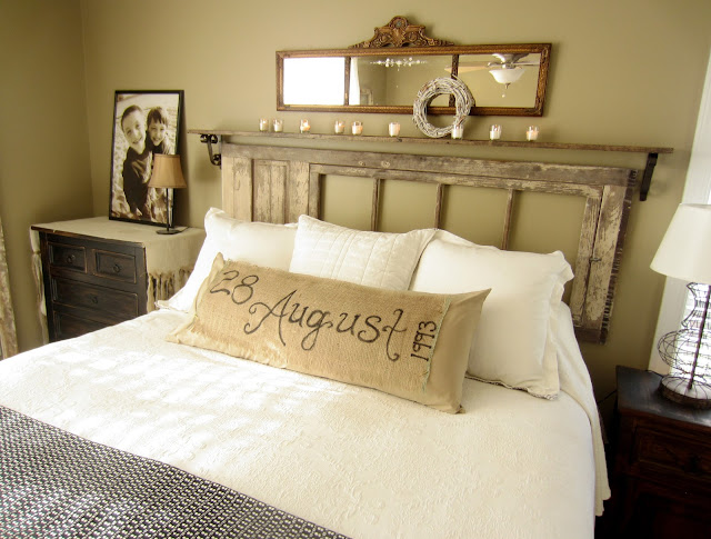 This is my bedroom that I share with my sweet husband. Down to Earth Style   Vintage  Rustic Master Bedroom