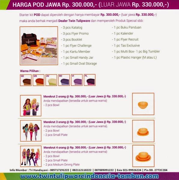 Harga Paket POD Tulipware Baru 2014