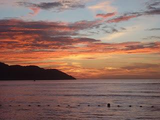 sunset, batu feringghi