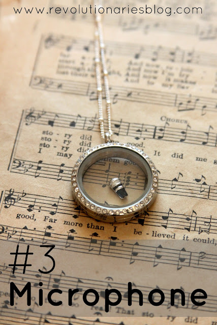 Origami Owl Living Locket Microphone Charm