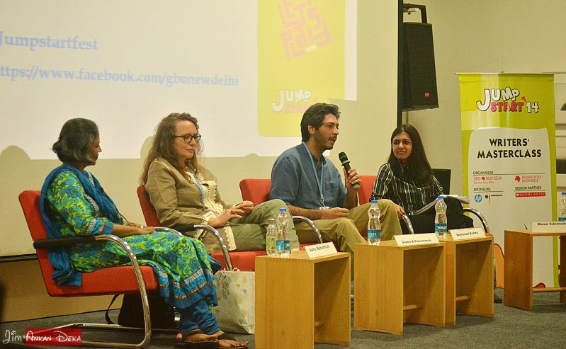 Asha Nehemiah, Sophie Benini Pietromarchi, Anshumani Ruddra and Manasi Subramaniam at Jumpstart-14, Bangalore (photo - Jim Ankan Deka)