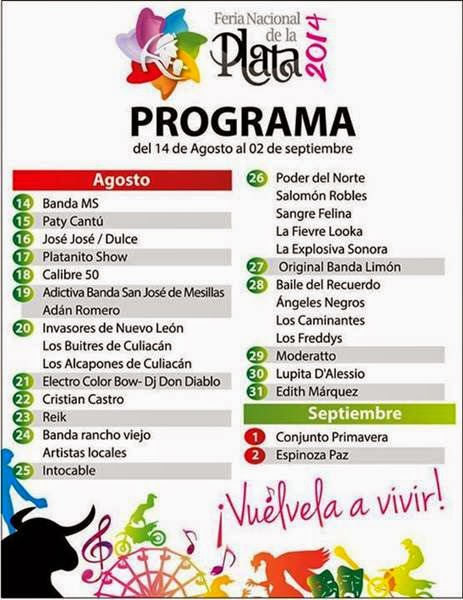 Feria Nacional de la plata Fresnillo 2014