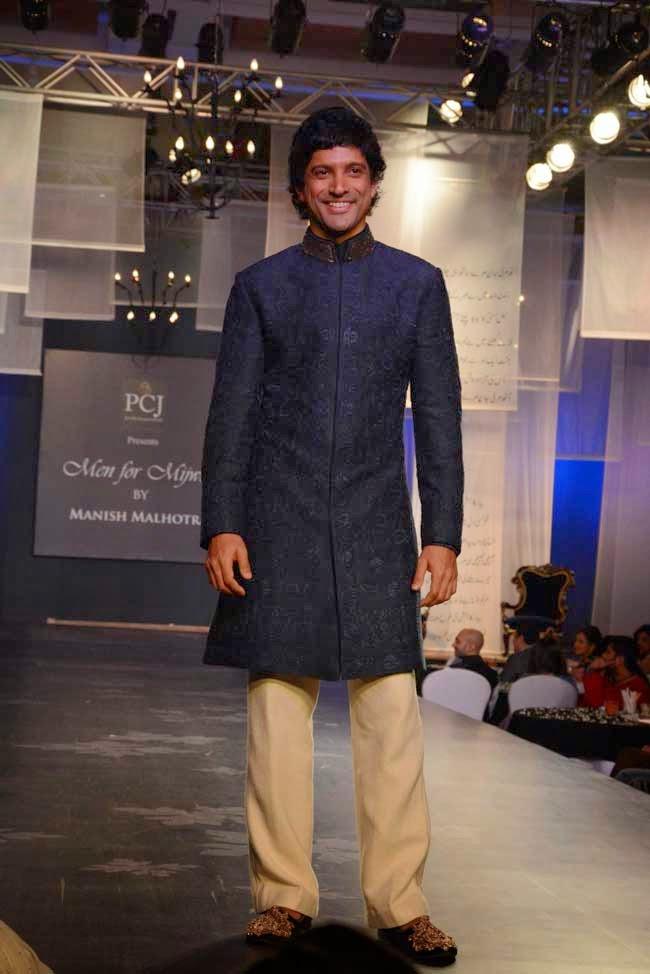 Farhan Akhtar at Men for Mijwan charity fashion show