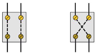 Posibles posiciones del interruptor de cuatro vías