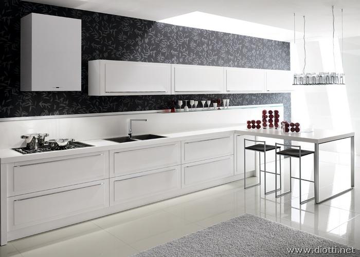 Decora o 40 cozinhas brancas em v rios estilos cores - Cucina italiana moderna ...