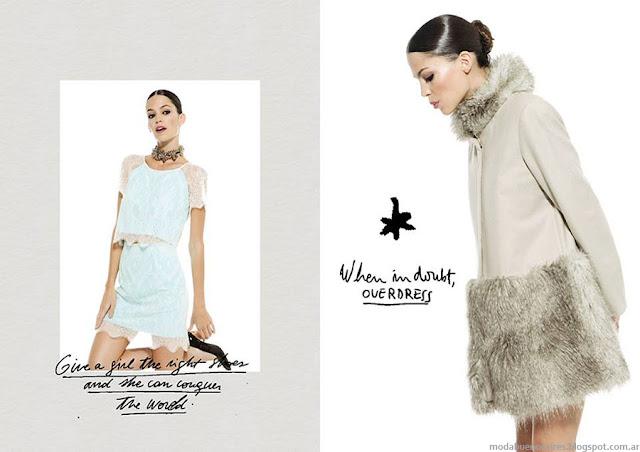 María Dahn invierno 2015 moda mujer. Moda invierno 2015 para fiestas.