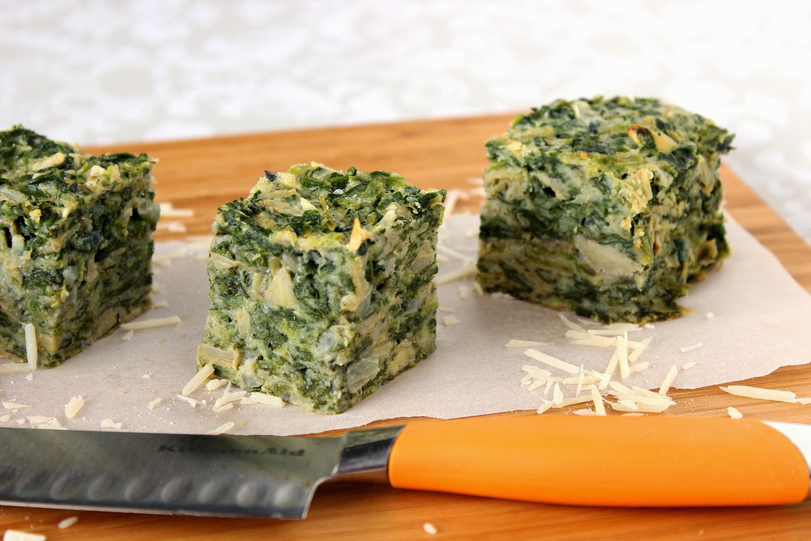Spinach and Artichoke Squares Recipe via Kudos Kitchen By Renee