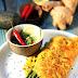 Asiatisches Omelett mit grünem Spargel