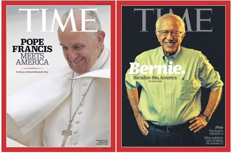 Pope Francis and Bernie Sanders TIME