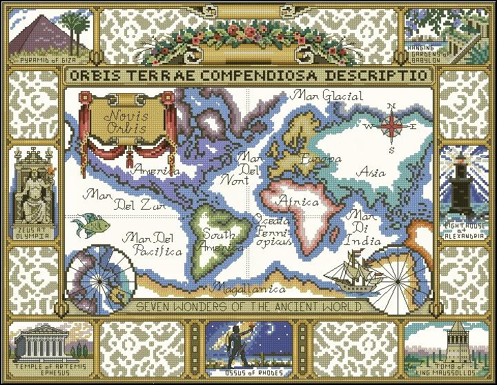 Beauty things / карта старого света.