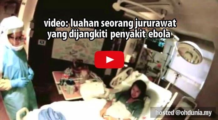 Video: Luahan Seorang Jururawat Sukarela Yang Dijangkiti Ebola