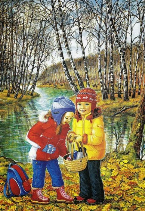 Дошкольникам картинки время года осень