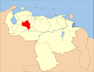Mapa del estado Portuguesa Venezuela