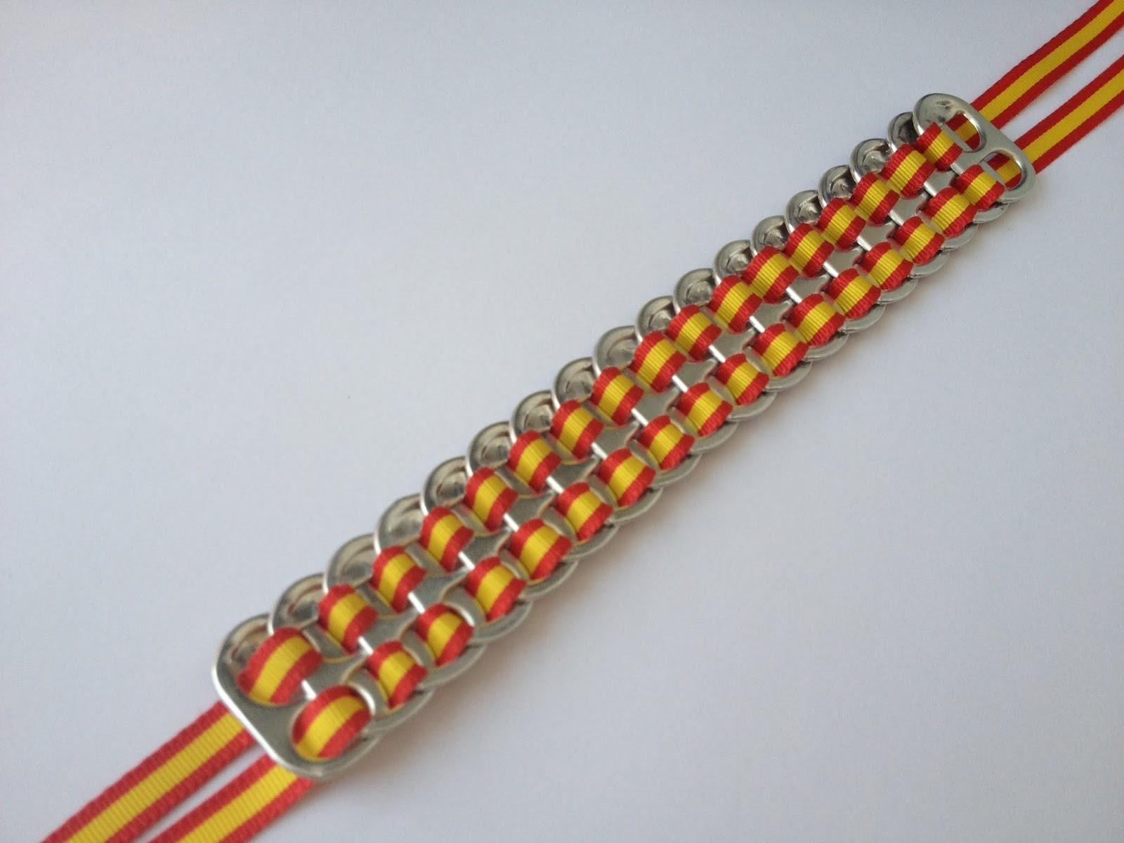 El blog de blanqui pulseras de anillas de latas de refrescos - Manualidades con chapas de refrescos ...