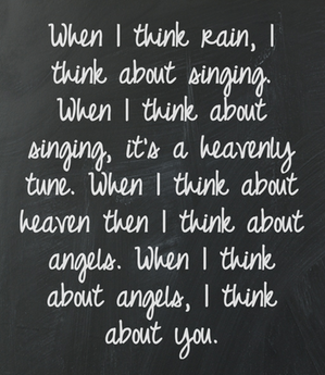 When I Think About Angels, I Think About You