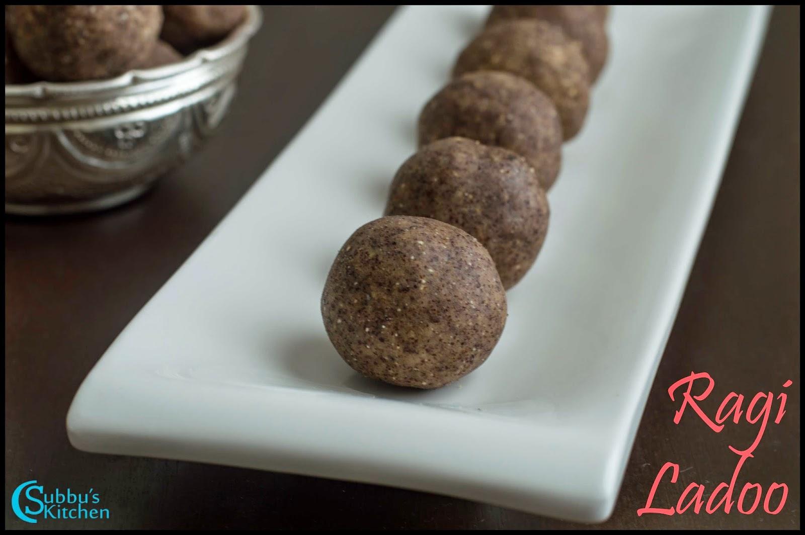 Ragi Ladoo Recipe   Finger Millet and Walnut Jaggery Balls Recipe